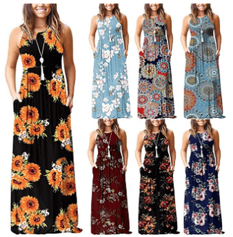 738d80fef08a Amazon   Women s Sleeveless Loose Plain Maxi Dresses Casual Long Dresses  with Pockets Just  15.88 –  16.88 W Code (Reg    42.20) (As of 3 29 2019  3.47 PM ...