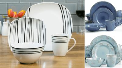 Macy's : 16-Piece Dinnerware Sets Just $27.99 (Reg : $72) – Get Up to 65% Off!