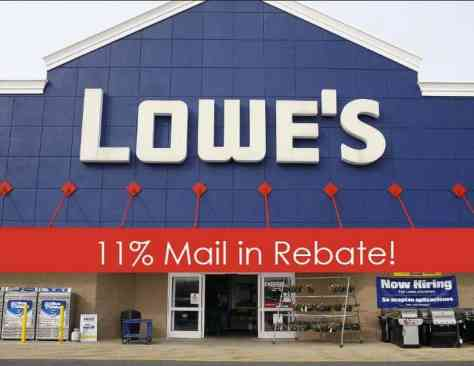 WOOHOO the awesome Lowe's Mail in Rebate is back!  Lowe's is offering a mail in rebate for 11% back on Almost ANY Lowe's purchase made between 3/24/19 and 3/30/19. This can be used on TOP of all other sales and discounts (like the 10% Military Discount). I am hearing there may be a limit on this one so if you need a big purchase, I HIGHLY suggest you buy on day one and submit that day.  Valid at select stores only – list of stores is on the second page of the rebate. If your local one isn't on it – look for nearby stores. The rebate will be paid in the from of a Lowe's gift card.  We got lucky and this was available when we needed to replace our stove – saved us another $100 off deal. It took about a month for the gift card to show up but it did work!  The only exclusions I see are – any service/installation labor; major appliances; custom and in-stock cabinetry; Weber products; flooring; clearance; delivery; any custom/special order products; & gift cards.  I would most definitely print this Lowe's Mail in Rebate now. It could go away at any time!