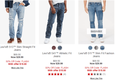Macy's : FLASH SALE!!! TODAY ONLY!! Just $15‼ 84% OFF Men's Name Brand Jeans!