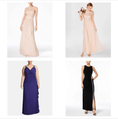 Macy's : Bridesmaid, prom or specials occasion dress - Starting $31.53 !!