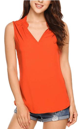Amazon : Women Chiffon Sleeveless Tank Top Just $5.39 W/Code (Reg : $17.99) (As of 4/20/2019 11.31 AM CDT)