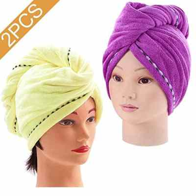 Amazon : 2PCS Absorbent Quickly Dry Hair Hat Just $2.99) (As of 4/20/2019 9.20 PM CDT)