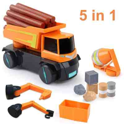 Amazon : 5-in-1 Construction Truck Toys Just $13.99 W/Code (Reg : $27.98) (As of 4/20/2019 4.10 PM CDT)