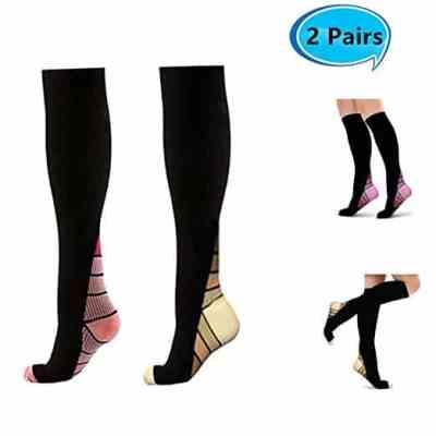 Amazon : Compression Socks Women(15-25mmHG), 2 Paris Just $7.99 W/Code (Reg : 15.99) (As of 4/23/2019 8.11 PM CDT)
