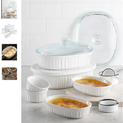 Macy's : French White 10-Pc. Bakeware Set Just $39.99 W/Code (Reg : $79.99)