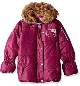 Amazon : Hello Kitty Girls Puffer Jacket with Hood Just $6.92-9.46 (As of 4/09/2019 9.51 AM CDT)
