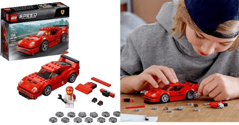 Deals Finders   Amazon : 198 Piece Speed Champions Ferrari