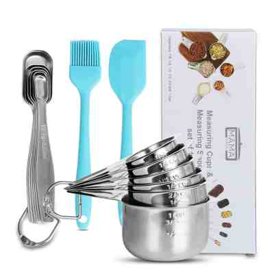 Amazon : Measuring Cups and Spoons Set of 14 Just $12.49 W/Code (Reg : $24.98) (As of 4/20/2019 5.13 PM CDT)