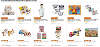 Amazon : Save huge on Melissa & Doug Easter favorites Just Starting as low as $3.67 (As of 4/09/2019 10.21 AM CDT)