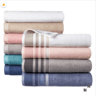 Jcpenney : Solid or Stripe Bath Towel Collection Just $2.24 W/Code (Reg : $8)