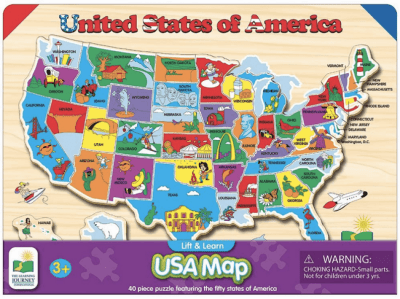 Micheal's : USA Map Puzzle Just $5.99 W/Code (Reg : $7.49)
