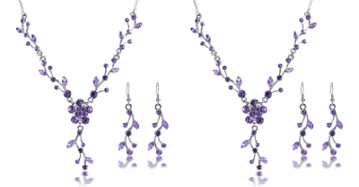 Amazon : Crystal Rhinestone Necklace Earrings Party Set Just $3.15 (As of 4/22/2019 10.02 AM CDT)