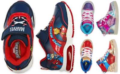 Jcpenney : Kids Superhero Sneakers Up to 50% Off (Avengers, Spiderman, Wonder Woman)