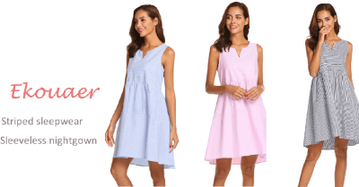 Amazon : Women's Striped Sleepwear Just $3.40 W/Code + $3 Off Coupon (Reg : $15.99) (As of 5/24/2019 10.01 AM CDT)