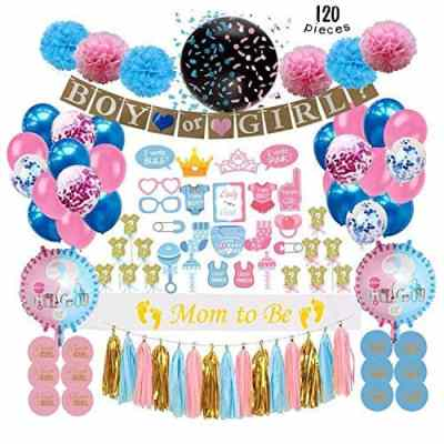 Amazon : Gender Reveal Party Supplies (120 PCS) Just $8.39 W/70% Off Coupon (Reg : $27.95) (As of 5/24/2019 6.35 PM CDT)