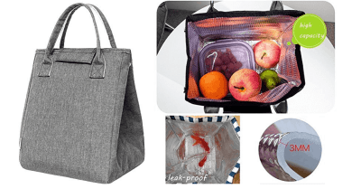 Amazon : Reusable Thermal Foldable Lunch Tote Bag Just $6.49 W/Code (Reg : $12.99) (As of 5/24/2019 9.43 AM CDT)