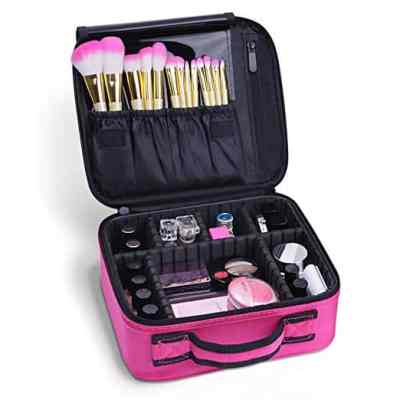 Amazon : Portable Travel Makeup Train Bag Makeup Cosmetic Case Organizer Just $9.89 W/Code + 5% Off Coupon (Reg : $21.99) (As of 5/23/2019 10.52 PM CDT)
