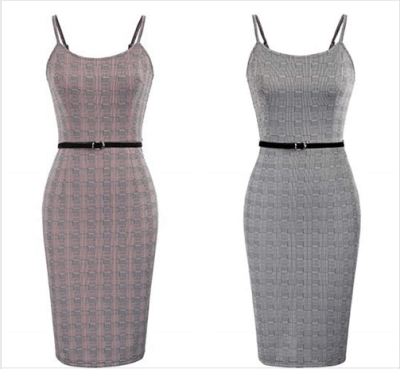 Amazon : Women Vintage Spaghetti Strap Plaid Bodycon Party Dress with Belt Just $9.49-12.99 W/Code (Reg : $25.99) (As of 5/24/2019 10.31 AM CDT)