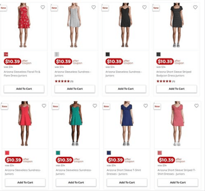 Jcpenney : Women's Arizona Dresses Just AS LOW AS $7.99 EACH (Reg $34)
