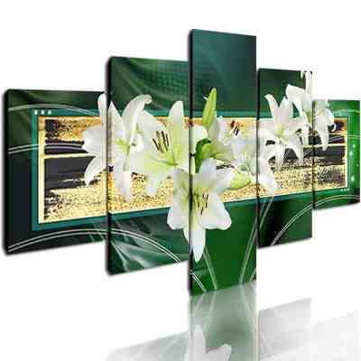 Abstract Green Flower Wall Art Painting for $29.69 Shipped! (Reg. Price $65.99)