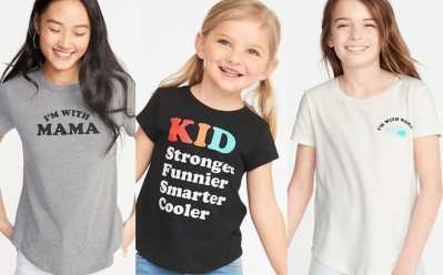 Old Navy : Mom & Mini Me Graphic Tees Just $4 – $5 (Reg : $15) – So Cute!