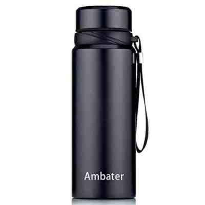 Vacuum Insulated Wide Mouth Stainless Steel Water Bottle Portable Leak-Proof Flask for Hot and Cold Drinks, 37oz for $11.99 w/code