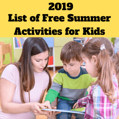 2019 List of Free Summer Activities for Kids