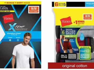 Hanes Men's Boxer Briefs 8-Pack ONLY $6 + FREE Shipping (Just 77¢ per Pair!)