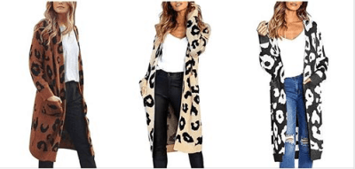 Amazon : Women Long Sleeve Leopard Print Open Front Warm Winter Coats Outwear with Pocket Just $14.49 W/Code (Reg : $28.99) (As of 6/17/2019 8.22 PM CDT)