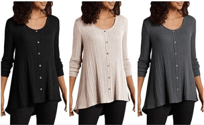 Amazon : Women's Henley Shirts Just $11.19 W/Code (Reg : $31.98) (As of 6/17/2019 5.34 PM CDT)