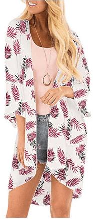 Amazon : Women's Sheer Chiffon Open Front Floral Kimono Cardigan Just $7.14 - $11.04 W/Code (Reg : $16.99) (As of 6/19/2019 4.37 PM CDT)