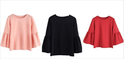 Amazon : Women's 3/4 Bell Sleeve Round Neck Blouse Shirt Top Just $7.98 W/Code (Reg : $18.99) (As of 6/17/2019 8.43 PM CDT)