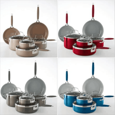 Kohl's : 10-pc. Ceramic Cookware Set Just $79.99 W/Code (Reg $129.99)
