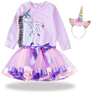 Amazon : 3PCS Girls Unicorn Outfits Set Just $9.88 to $15.88 W/Code (Reg : $39.70) (As of 7/21/2019 12.16 AM CDT)