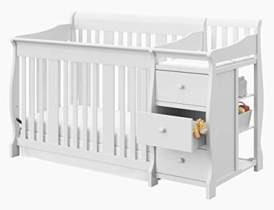 Amazon : PRIME DAY DEAL 4 in 1 Fixed Side Convertible Crib Changer, White Just $319.99 W/20% At Checkout (Reg : $399.99)