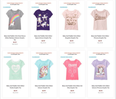 The Children's Place : AS LOW AS $0.99 (Reg $9.50+) Baby + Toddlers Clothing!!