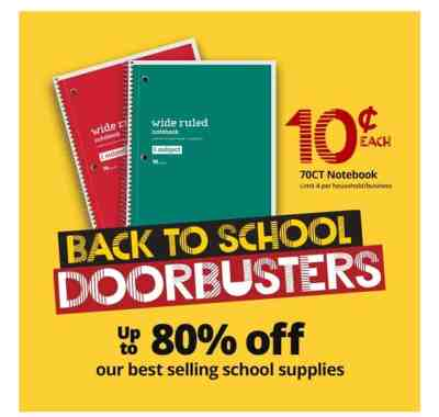 BackToSchool Doorbuster at OfficeDepot/Office Max while supplies last 🏃‍♀️🏃‍♀️