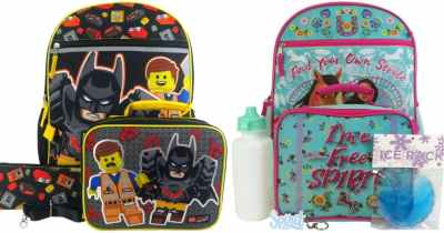 5-Piece Character Backpack Sets Only $13.99 Shipped for Kohl's Cardholders (Regularly $40) – Disney, LEGO & More