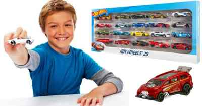 Hot Wheels 20-Car Gift Pack Only $12.99 (Just 65¢ Per Car) (reg: $21.99)