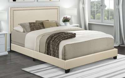 Walmart : Upholstered Queen Bed With Nail Head Trim Just $70 (Reg : $149) + FREE Shipping