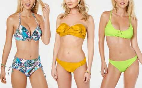 Juniors' Bikini Tops & Bottoms JUST $9.99 Each at Macy's – Many Styles Available!