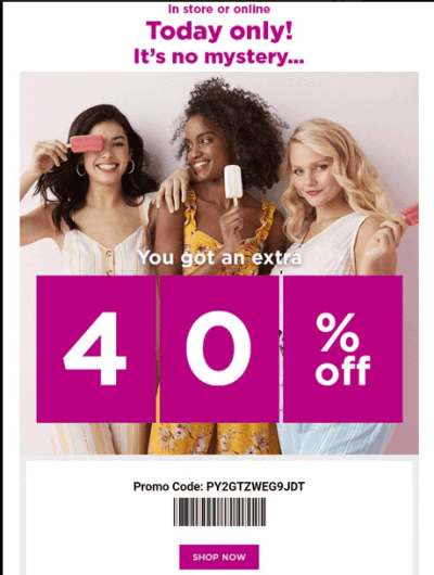 Kohl's 40% OFF Today ONLY!