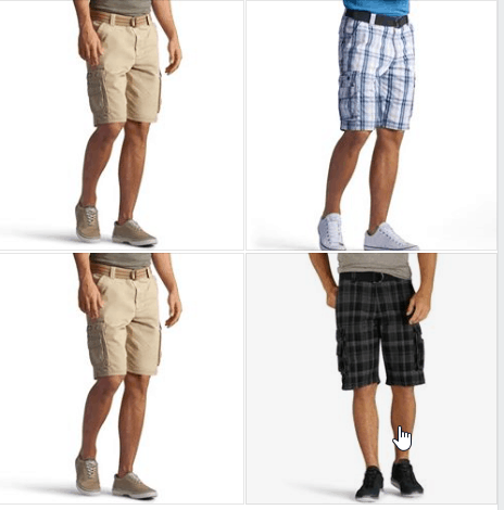 Men's Lee Wyoming Belted Cargo Shorts for $14.65 (reg: $46) w/code