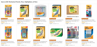 Amazon : Save on BIC Mechanical Pencils, Pens, Highlighters, & More Just Starting as low as $2.32 (As of 7/10/2019 8.18 AM CDT)