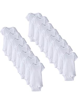 Gerber Unisex-Baby Newborn 15 Piece Onesies Bundle In Sizes, White, 0-3M/3-6M/6-9M for $20.99 (reg: $38.99)