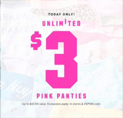 ** Hot** Victoria Secret $3 Unlimited Panties ($Reg: $10.50)