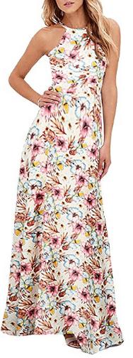 Amazon : Women's Sleeveless Halter Neck Maxi Dress Just $13.99 W/Code (Reg : $27.99) (As of 7/23/2019 11.16 PM CDT)
