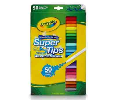 50 Count Crayola Super Tips Markers, Washable Markers for $5.09 Shipped! (Reg. Price $9.99)