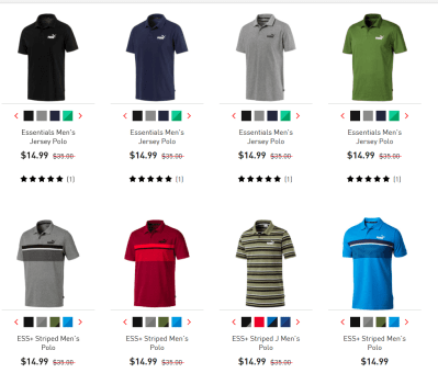 Puma Men's Jersey Polo for just $14.99 (reg: $35)